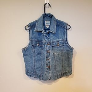 St. John's Bay jean vest size medium